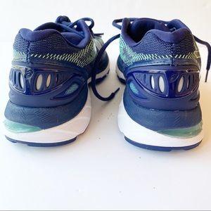 Asics Shoes - ASICS GEL RUNNING TENNIS SHOE NAVY AND GREEN